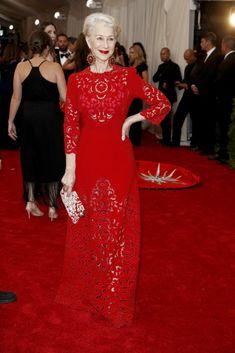 Helen Mirren Rocks. D & G met gala NYTimes.com