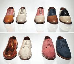 Florsheim by Duckie Brown. Love the copper metallic brogues.