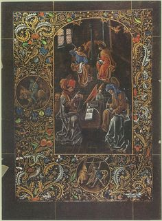 The Black Hours of Galeazzo Maria Sforza, made in Bruges between 1466-76. The Four Evangelists.