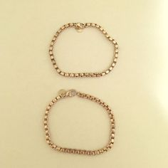 Tiffany and Co Chainlink bracelets - 2 available Two authentic Tiffany chainlink bracelets. 925. Needs a little bit of polishing. Price is for ONE. Two available. Authentic. 7 1/2 inches long Tiffany & Co. Jewelry Bracelets