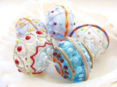 5 Hollow Lampwork Beads by IrinaS on Etsy, $40.00