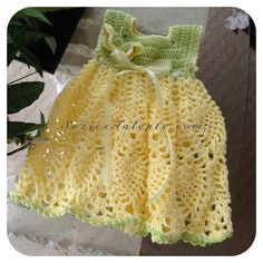SALE- REVISED - 0-24 months, Baby Butterfly Spring Dress, Baby Spring Dress pattern, Baby Pineapple Dress Pattern, Crochet Baby Dress, PT005