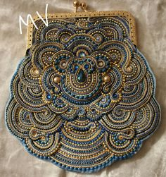 soutache embellished bag