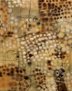 Gwendolyn Plunkett, Little Shimmer II, encaustic. I love the layering achieved here.
