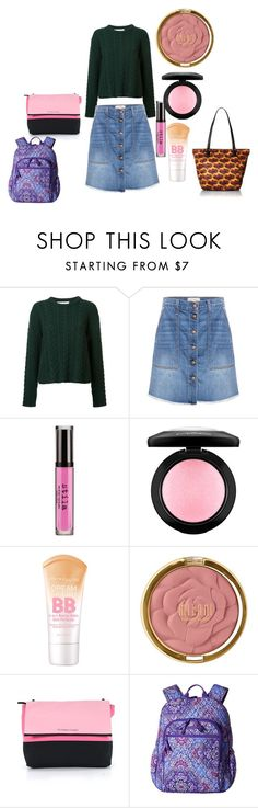 """""""What to wear at school xo"""" by rabiaheart-13 ❤ liked on Polyvore featuring Ryan Roche, Current/Elliott, Stila, MAC Cosmetics, Maybelline, Milani, Victoria's Secret and Vera Bradley"""