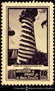 Temes-Asociación de Amigos de la Unión Soviética :: Segells del Pavelló de la República (Universitat de Barcelona) Balearic Islands, Stamp Collecting, My Stamp, Barcelona, Baseball Cards, Movie Posters, Spanish, Stamps, War