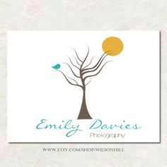 Items similar to Premade Logo Design - Premade logo and watermark - Custom Business Logo - Photography Logo - Customized for Any Business - Bird on a Branch on Etsy Logo Design, Graphic Design, Place Card Holders, Logos, Unique Jewelry, Handmade Gifts, Photography, Etsy, Kid Craft Gifts