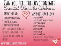 """""""Can You Feel The Love Tonight"""" - Essential Oil Blends in the Bedroom:  It is a romantic time of year and what better way to celebrate your love than with essential oils?"""