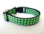 collar green gingham check