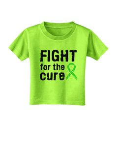 TooLoud Fight for the Cure - Light Green Ribbon Celiac Disease Toddler T-Shirt