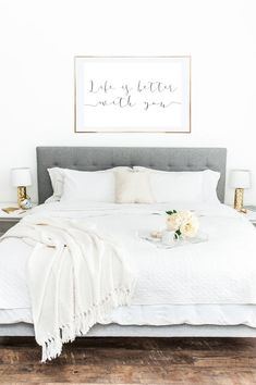 PRINTABLE WALL ART Life Is Better With You by LuminousPrints