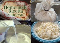 The Homestead Survival | Homemade Ricotta Cheese Recipe made from Milk | http://thehomesteadsurvival.com