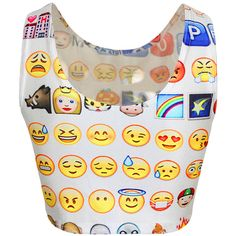 White Ladies Fashion Emoji Funny Tank Crop Top ($11) ❤ liked on Polyvore featuring tops, shirts, crop tops, t-shirts, white, white tank, white crop tank, pink shirt, crop tank and white shirt