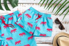 Matching swimwear for Daddy and his mini me. Look good, have fun, feel good giving back to charity. Mens Swim Shorts, Boho Shorts, Casual Shorts, Beachwear, Swimwear, Shorts Online, Man Swimming, Swim Trunks, Charity