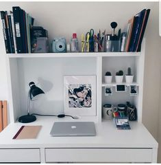 """the studying dinosaur, futurecanadianmd: """"finally organized my study space and I'm honestly in love with my new cacti """". Bedroom Desk, Room Decor Bedroom, Dorm Room, Study Room Decor, Cute Room Decor, Study Rooms, Study Space, Desk Space, Room Goals"""