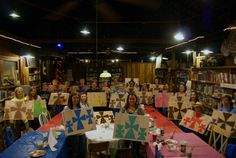 Textured Crosses at Painting with Ashley Ray