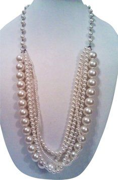 Mixit Mixit Bold Pearl Statement Necklace