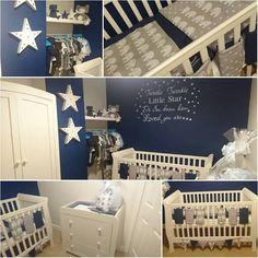 Baby boys elephant and stars nursery