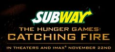 SUBWAY The Hunger Games: Catching Fire Instant Win Game (60,000 Winners)! New Game Codes added!
