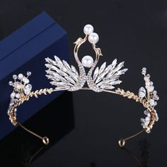 Amazing / Unique Silver Tiara Rhinestone Pearl Wedding Accessories 2019 Metal Bridal Hair Accessories Source by ValryHensel Royal Jewelry, Cute Jewelry, Hair Jewelry, Silver Tiara, Magical Jewelry, Circlet, Fantasy Jewelry, Tiaras And Crowns, Bridal Hair Accessories