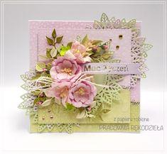 z papieru robione / kartka urodzinowa