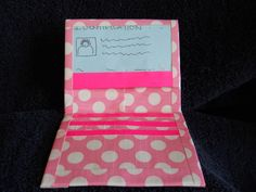 CUTE.   We can make wallets that have a drivers licenses section too.   Only $5.  Plus, shipping which is $3.   So, total is $8