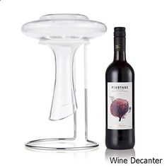 Wine Decanter - The Wine Castle Decanter Drying Stand - Beautiful Stainless Steel - For Large Bottomed Wine Decanters - Rubber Coated to Prevent Scratches