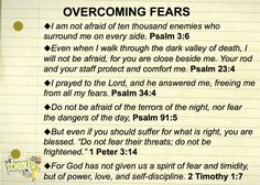 What God says about fear...