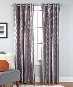 Look at this #zulilyfind! Chrome Stanton Curtain Panel #zulilyfinds