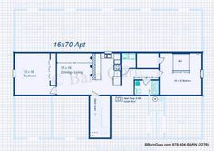 2 Bedroom Apt Horse barn | Floor Plans | Pinterest | Horse barns ...