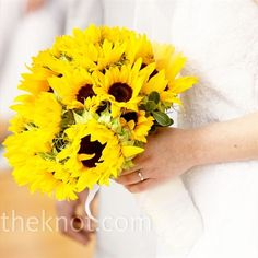 sunflower bouquet, this is more my taste.
