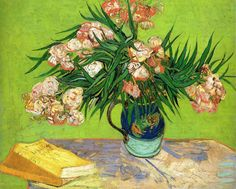 Vincent Van Gogh「Oleanders and Books」(1888)