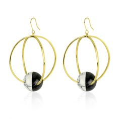 Capture style with the Halo earrings from the Orbit Collection! #Orbit #Collection #NEW #Online #Now #nOirJewelry #NYC