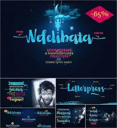 Nefelibata cyrillic font collection set