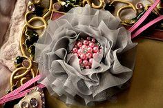 Pink Luxury} Headband, Photography Prop, Baby Headband, Couture Headband, Flower Headband