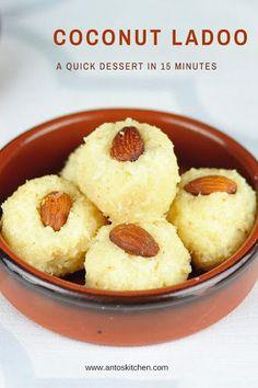 coconut ladoo with condensed milk #coconut #sweet #ladoo