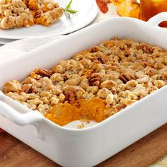 Rosemary and Sweet Potato Casserole #thinkfisher #comfortfood http ...