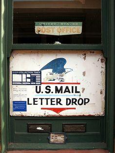 Letter drop mailbox