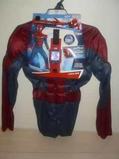 SIZE Medium 8 Boy's NEW Spiderman Halloween Costume Hologram 3 PC Costume Set #Disguise #CompleteOutfit
