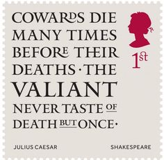 Shakespeare British stamps 2016