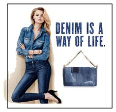 """Denim"" by ena07-dlxx ❤ liked on Polyvore featuring Dsquared2 and H&M"