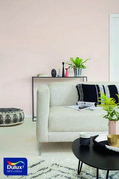 Blush Pink living room inspo. #BlushPink