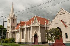 Graceville Uniting Church, Brisbane.  By Walter Taylor in precast concrete