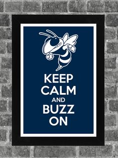 Keep Calm Georgia Tech Yellowjackets NCAA Print Art 11x17. $14.99, via Etsy.