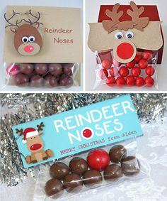 Narices de reno • Reindeer noses DIY Reindeer Noses, Christmas Treats, Gingerbread Cookies, Merry, Diy, Gifts, Sweets, Crafts, Gingerbread Cupcakes