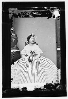 Mrs. Abraham Lincoln.  Mathew Brady portrait of the First Lady.