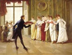 "Google Image Result for http://www.christyenglish.com/wp-content/uploads/2012/06/Regency-England.jpg    A ball that typical 18th century women like Jane would attend. Balls were a big part of society and English culture and is where people went to have fun and socialize.""The prospect of Netherfield ball was extremely agreeable to every female of the family"" (Austen 120)."