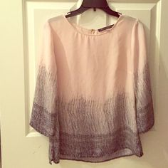Light pink long sleeve Very cute shirt, doesn't fit. Brand new never been worn. Paid $30 Rose & Olive Tops Blouses