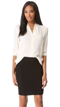 another alternative to the white button-down: Theory Helona Blouse