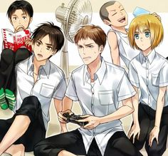 Marco, Eren, Jean, Connie, Armin, Attack on titan, AOT, SNK